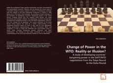 Capa do livro de Change of Power in the WTO: Reality or Illusion?
