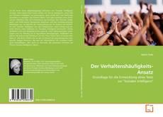 Bookcover of Der Verhaltenshäufigkeits-Ansatz