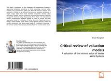 Bookcover of Critical review of valuation models
