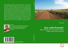 Portada del libro de Quo vadis Rwanda?
