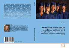 Обложка Motivation correlates of academic achievement