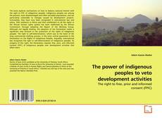 Copertina di The power of indigenous peoples to veto development activities