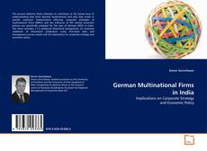 Bookcover of German Multinational Firms in India