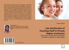 Portada del libro de Job Satisfaction of Teaching Staff in Private Higher Institution