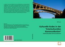 """Buchcover von Kulturelle Kodes in der """"Interkulturellen Kommunikation"""""""