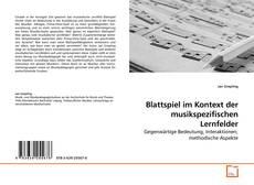 Обложка Blattspiel im Kontext der musikspezifischen Lernfelder