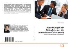 Portada del libro de Auswirkungen der Finanzkrise auf die Unternehmensfinanzierung