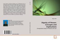 Buchcover von Dignity of Person: Concepts and Implications