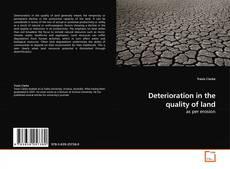 Buchcover von Deterioration in the quality of land