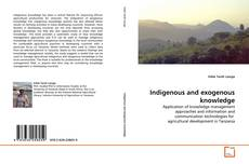 Bookcover of Indigenous and exogenous knowledge