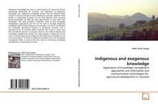 Indigenous and exogenous knowledge kitap kapağı
