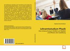 Bookcover of Lehramtsstudium Physik