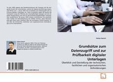 Buchcover von Grundsätze zum Datenzugriff und zur Prüfbarkeit digitaler Unterlagen