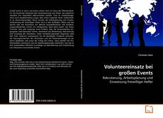Bookcover of Volunteereinsatz bei großen Events