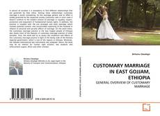 Buchcover von CUSTOMARY MARRIAGE IN EAST GOJJAM, ETHIOPIA