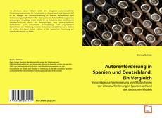 Bookcover of Autorenförderung in Spanien und Deutschland. Ein Vergleich