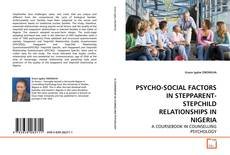 Capa do livro de PSYCHO-SOCIAL FACTORS IN STEPPARENT-STEPCHILD RELATIONSHIPS IN NIGERIA