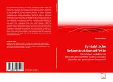 Capa do livro de Syntaktische Rekonstruktionseffekte
