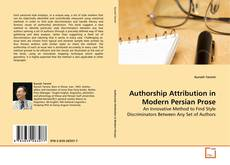 Bookcover of Authorship Attribution in Modern Persian Prose