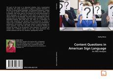 Bookcover of Content Questions in American Sign Language
