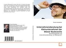 Buchcover von Unternehmensberatung bei Kleinunternehmen der Wiener Baubranche