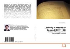 Bookcover of Learning in Mediaeval England (600-1100)