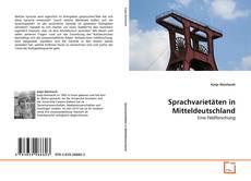 Sprachvarietäten in Mitteldeutschland kitap kapağı
