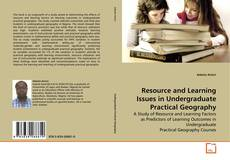 Resource and Learning Issues in Undergraduate Practical Geography kitap kapağı