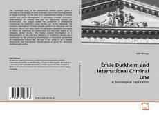 Portada del libro de Émile Durkheim and International Criminal Law
