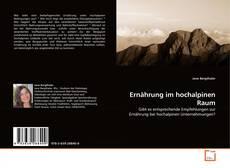 Capa do livro de Ernährung im hochalpinen Raum