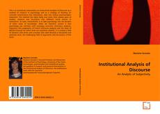 Обложка Institutional Analysis of Discourse
