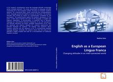 Bookcover of English as a European Lingua Franca