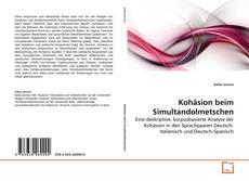 Bookcover of Kohäsion beim Simultandolmetschen