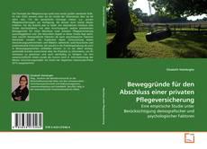 Buchcover von Beweggründe für den Abschluss einer privaten Pflegeversicherung