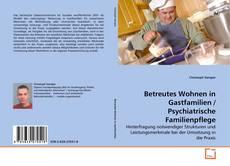 Buchcover von Betreutes Wohnen in Gastfamilien / Psychiatrische Familienpflege