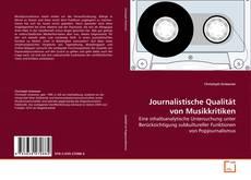 Bookcover of Journalistische Qualität von Musikkritiken