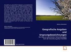 Capa do livro de Geografische Angaben und Ursprungsbezeichnungen