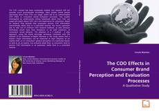 Capa do livro de The COO Effects in Consumer Brand Perception and Evaluation Processes