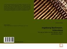 Capa do livro de Ingeborg Bachmann. Interviews