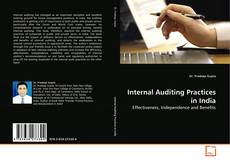 Buchcover von Internal Auditing Practices in India