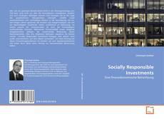 Bookcover of Socially Responsible Investments