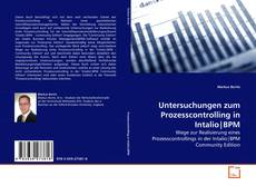 Capa do livro de Untersuchungen zum Prozesscontrolling in Intalio|BPM