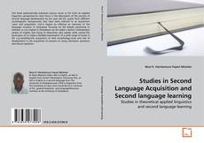 Bookcover of Studies in Second Language Acquisition and Second language learning
