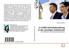 Capa do livro de § 4 GlBG Gleichbehandlung in der sonstigen Arbeitswelt