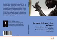 Demokratie lernen - Neu erfinden kitap kapağı
