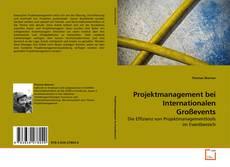 Copertina di Projektmanagement bei Internationalen Großevents