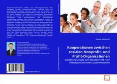 Buchcover von Kooperationen zwischen sozialen Nonprofit- und Profit-Organisationen