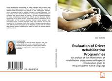 Buchcover von Evaluation of Driver Rehabilitation Programmes