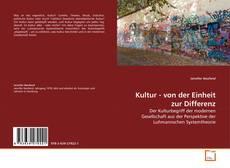 Kultur - von der Einheit zur Differenz kitap kapağı