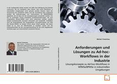 Buchcover von Anforderungen und Lösungen zu Ad-hoc-Workflows in der Industrie